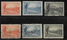 Australia Scott #142-#144, #142a-#144a, 1934 Yarra Yarra Tribesman reg & perf 11