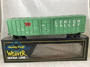 Weaver Lehigh Valley 50' Plug Door Box Car #7156 3 Rail With Box