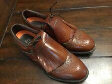 DEXTER Mens Brown Leather Kiltie Golf Shoes Size 8.5 - No cleats