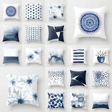 Nordic Cushion Cover Creative Blue Geometric Cushions Covers Sofa Pillow Case
