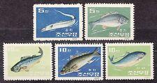 KOREA 1962 mint (*) SC#412/16 set, Sea Fish.