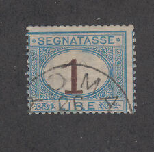 Italy Sc J13 used 1870 1l light blue & brown Postage Due