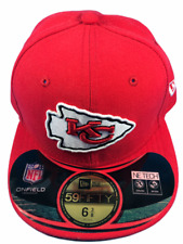 Kansas City Chiefs NFL New Era 59FIFTY Size 6 3/8 Fitted Hat Brand New