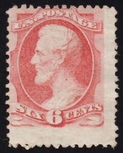 US Sc# 148 *MINT NG H* { 6c ABRAHAM LINCOLN } CARMINE BANKNOTE OF 1870 CV$ 350