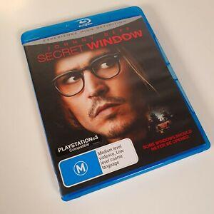 Secret Window Never Played BLU RAY (2004 Johnny Depp horror thriller) All Region