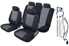 11 PCE Glastonbury Grey/Black Car Seat Covers For Mazda 1, 2, 3, 323, 6, 626 CX-