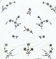 Vintage Visage iron on embroidery transfer celandine flowers