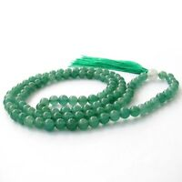 6mm Green Aventurine Gem Bracelet Tibet Buddhist 108 Prayer Beads Mala Necklace