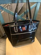 DOONEY & BOURKE Black Patent Leather Handbag GREAT CONDITION!!
