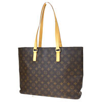 Auth LOUIS VUITTON Luco Tote Shoulder Bag Monogram Leather Brown M51155 70MD365