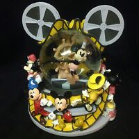 Rare Disney Mickey Mouse Steamboat Willie THROUGH THE YEARS Music Snowglobe-IOB
