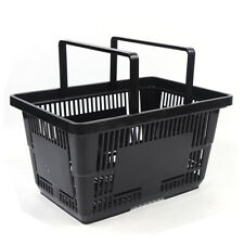 12Pcs Black Plastic Handheld Shopping Basket for Grocery Store Convenience Store