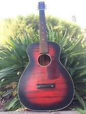 Vintage '60s Stella Harmony Parlor Acoustic Guitar Made in USA Red Sunburst !!
