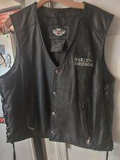 Harley davidson mens leather vest xl