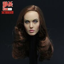 Custom 1/6 Scale Angelina Jolie 2.0 Head Sculpt For Hot Toys Phicen in stock