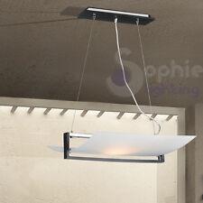 Lampadario lampada sospensione design moderno wengè cromo vetro bianco cucina
