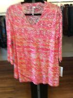Small Lulu B Asymmetrical Print Tunic Retail $49