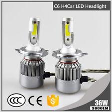 H4 C6 Super Bright COB 36W 3800LM LED Car Headlight Hi/Lo Turbo Light Bulb 6000K