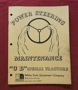 "1953-1955 MINNEAPOLIS MOLINE UB SPECIAL TRACTOR ""POWER STEERING"" REPAIR MANUAL"
