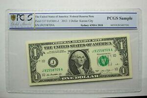 2013 USA 1 DOLLAR NOTE KANSAS CITY SYDNEY ANDA PCGS SAMPLE VERY RARE