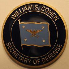 William S. Cohen Secretary of Defense SECDEF DOD First Version Challenge Coin V1