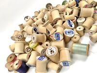 Lot Of 130 Vintage/Antique Wooden Sewing Thread Spools