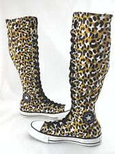 CONVERSE Tall Shoes Leopard Animal Print Punk Sneakers Women's US 5 EU 35 RARE