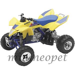 NEW RAY 43393 SUZUKI QUADRACER R450 ATV MOTORCYCLE 1/12 YELLOW