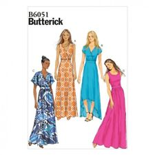 Butterick Ladies Easy Sewing Pattern 6051 Jersey Maxi Dresses (Butterick-6051-M)