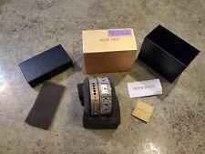 HSN HEIDI DAUS Amethyst CZ Crystal Watch & Bangle Bracelet Set NOS NIB