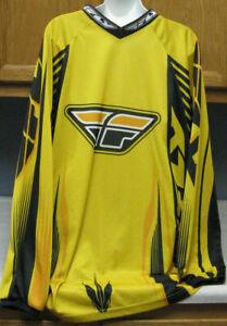 Men's Size XL Black & Yellow FLY RACING MotorCycle Shirt