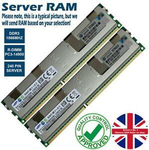 16GB Memory RAM 4 Servers PC3-14900R DDR3 1866MHz 240 ECC Registered R-DIMM Lot