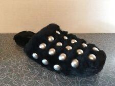 Alexander Wang Black Amelia Shearling Sheepskin Dome Slide Shoe 39 9