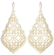 Kendra Scott Addie Teardrop Dangle Earrings in Gold Plated Filigree