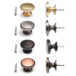 8/16 Pcs Modern Wide Top Ring Cabinet Knob 38mm Diameter Gloss Brushed Finish