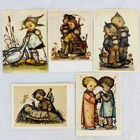 Vintage Hummel Postcard Lot of 5 Joseph Mueller Emil Fink Made in Germany