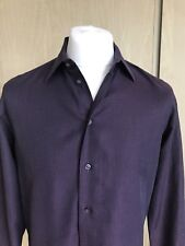 Armani Collezioni Men Textured Formal Shirt/ Dark Purple/ Size 39 IT= 15.5 USA.