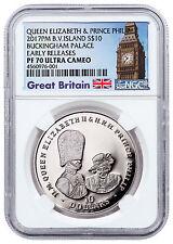 2017 British Virgin Is Buckingham Palace 1 oz Silver $10 NGC PF70 UC ER SKU48456