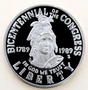 1989 S PROOF CONGRESS COMMEM! ULTRA DCAM! INSANE CAMEO! RARE WOW$$$$NR #1241_386