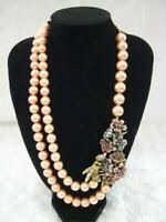 """HEIDI DAUS""""Pretty Pollination""""(Floral Garden/Bee) Necklace(Orig.$179.95)-LAST 1!"""