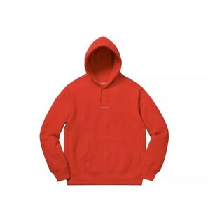 Supreme Trademark Hooded Sweatshirt, M, Red,