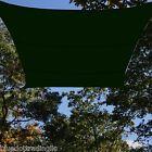 Heavy Duty Green 13 x 13' Square Mesh Canopy Shade Sail Backyard Lawn Awning