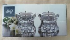 MIKASA ..(2) Candle Holders.. 'Sparkling Star'..New in Box..Made in Japan