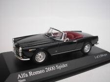 ALFA ROMEO 2600 Spider Convertible 1964 NEGRO 1/43 Minichamps 400120630 NUEVO