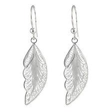 925 Sterling Silber Ohrhänger Ohrringe Blatt-Design, Telkari 10161 933135e085