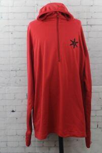 Airblaster Ninja Base Layer Hooded Shirt, Men's Large, Red New
