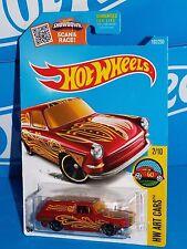 Hot Wheels 2016 HW Art Cars Series #192 Custom '69 Volkswagen Squareback Red