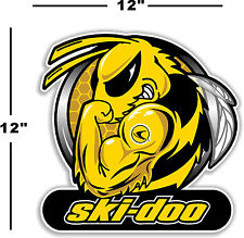 "(SKI-2) 12"" SKI-DOO SKIDOO BEE DECAL FOR WINDOW / WALL ARTIC CAT MXZ POLARIS X"
