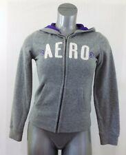 Aeropostale Hoodie Women's Medium Spell Out Long Sleeve Full Zip Fleece Jacket