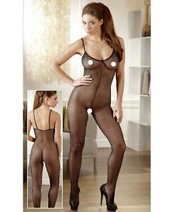 bodystocking guepiere sexy intimo donna nera aperto abbigliamento hot tutina